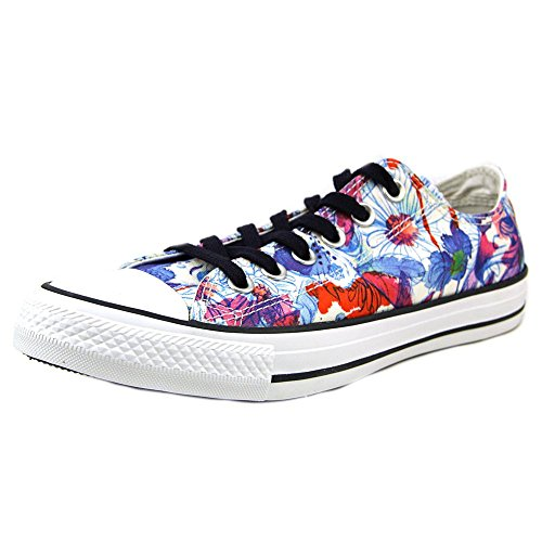 Converse Womens Chuck Taylor All Star Daisy Print Low Top Sneaker Spry Paint Blu/Plastic Pink/Wht (8)