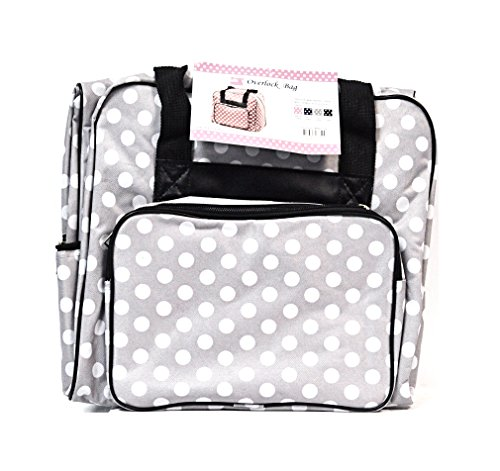 Hemline Dotty Serger Overlock Bag in Grey Polka Dot ()
