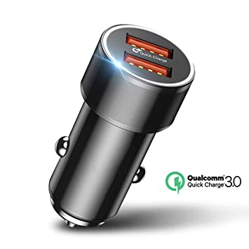 FFGGO Cargador de Coche Baseus 36W Dual USB Cargador de ...