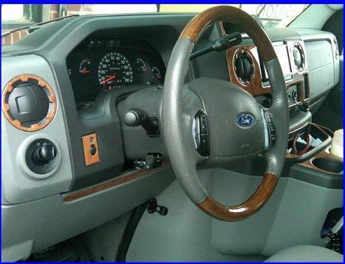 Ford ECONOLINE E-SERIES E SERIES E-150 E150 E-250 E250 INTERIOR BURL WOOD DASH TRIM KIT SET 2009 2010 2011 2012 2013 2014 2015 2016 (Wood Dashboard)