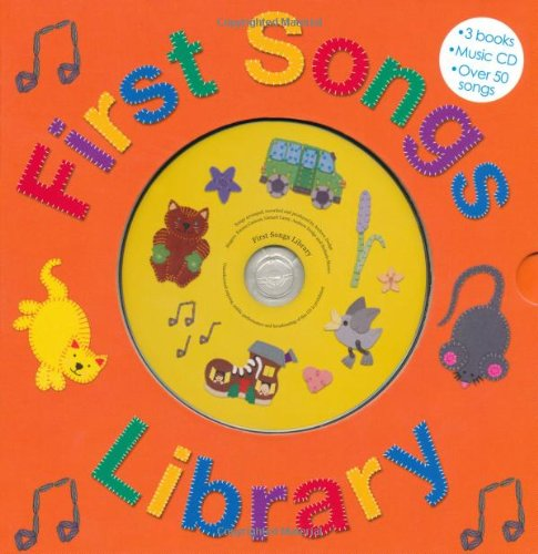 Preschool Cd - First Songs Library: Over 50 Songs! Includes 3 Books with a CD