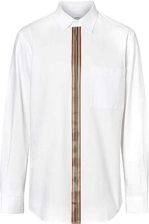 BURBERRY Luxury Fashion Hombre 8015436 Blanco Camisa | Otoño-Invierno 19: Amazon.es: Ropa y accesorios