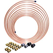 Nickel Copper Brake Line Coil and Tube Nut Kit, 3/16 x 25