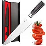 Chef Knife,Fubosi Chef's Knife 8 inches, Professional Kitchen Sharp Knives Fruit Vegetable Knife, High Carbon Japanese Stainless Steel Gyutou Knives With Ergonomic Handle