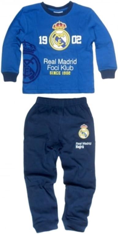 Real Madrid - Pijama dos piezas - para niño azul 5 años ...