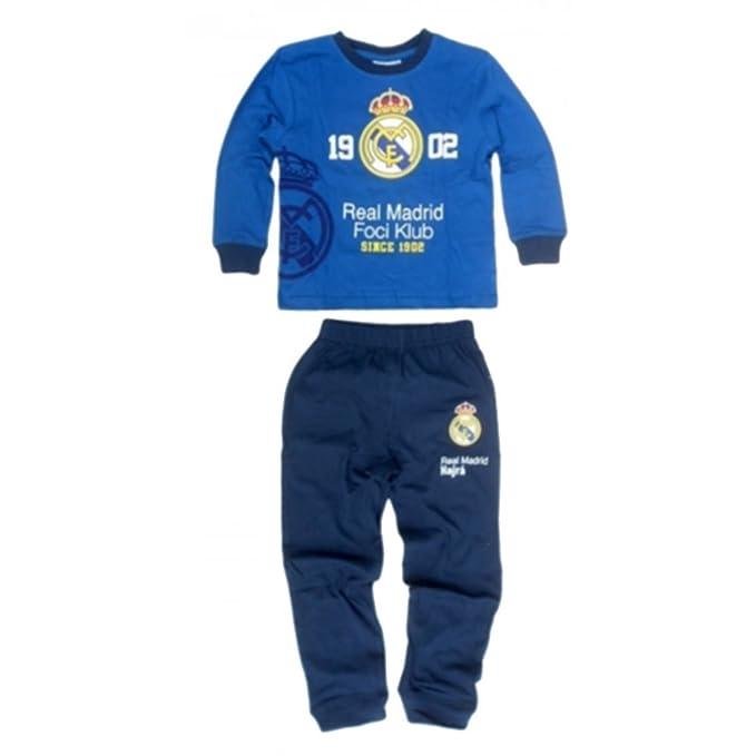 Real Madrid - Pijama dos piezas - para niño azul 5 años