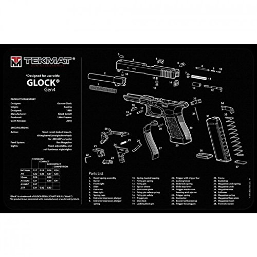 "TekMat Pack of 2 Mats - Glock Gen 4 Cleaning Mat 11"" x 17"""