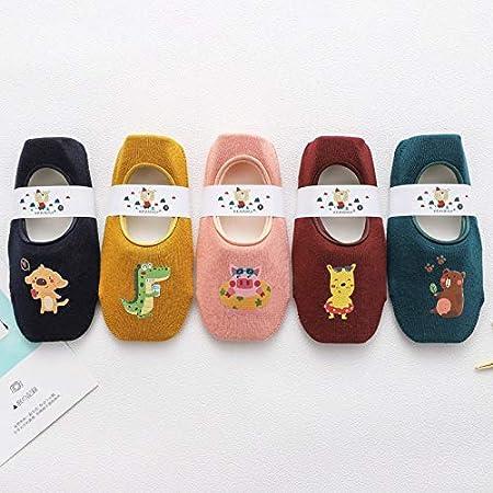 Set 4 Ceguimos Lot de 5 Paire Chaussettes Invisibles Antid/érapantes 1-3 Ans B/éb/é Enfant