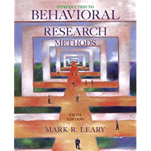 Introduction to Behavioral Research Methods, Fourth Research Edition 4th Edition.