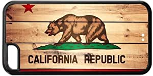 diy phone caseCalifornia State Flag iphone 5/5s Hard Cover Case Wood Snap Ondiy phone case