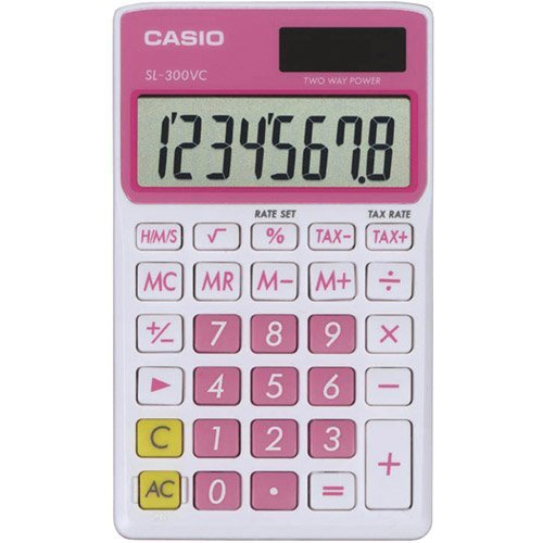 Casio Sl300VCPKSIH Solar Wallet Calculator with 8
