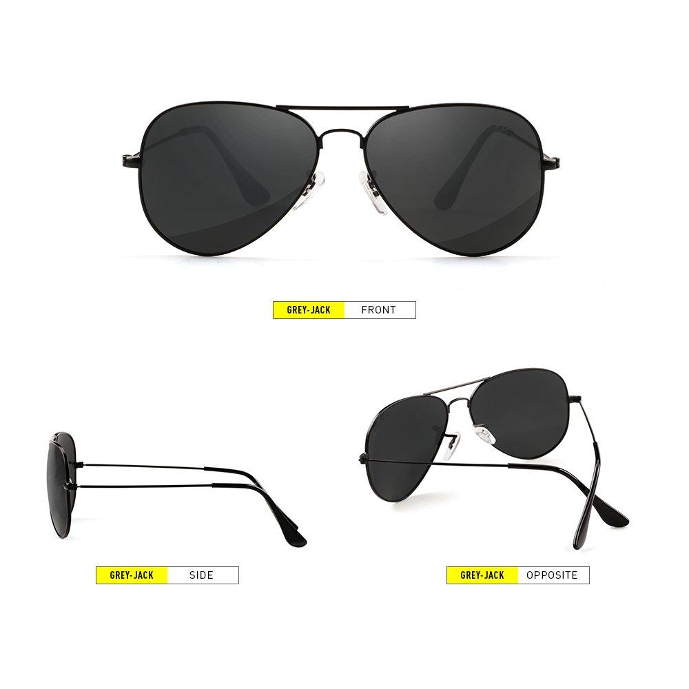 Grey Jack - Gafas de sol polarizadas estilo aviador clásico, ligeras, para hombres y mujeres: Amazon.es: Deportes y aire libre
