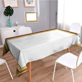 Auraisehome Water Resistant Tablecloth Photo frame with simple borders Great for Buffet Table, Parties, Holiday Dinner, Wedding & More