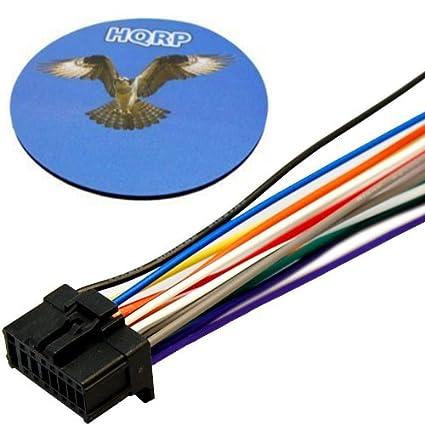amazon com hqrp car radio head unit stereo wire wiring harness plughqrp car radio head unit stereo wire wiring harness plug for pionner 2008 models