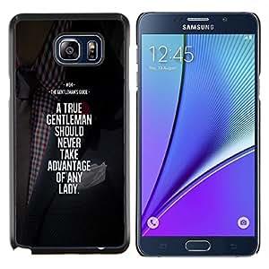 YiPhone /// Prima de resorte delgada de la cubierta del caso de Shell Armor - motivación ventaja caballero - Samsung Galaxy Note 5 5th N9200