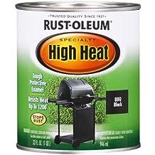 Rust-Oleum 7778502 Specialty High Heat Protective Enamel, Satin BBQ Black, 1-Quart