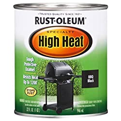 Rust-Oleum 778502 Specialty High Heat Protective Enamel, Satin Black, 1-Quart