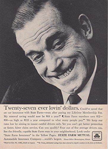 1959 State Farm Insurance  Twenty Seven Ever Lovin Dollars  State Farm Insurance Print Ad