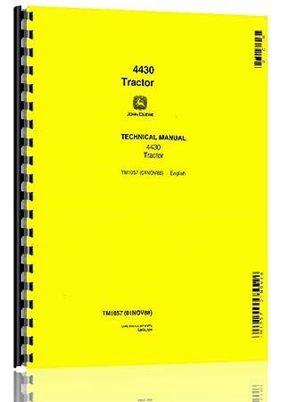 amazon com john deere 4430 tractor service manual 0 33108 prints rh amazon com John Deere Tractors John Deere Tractors