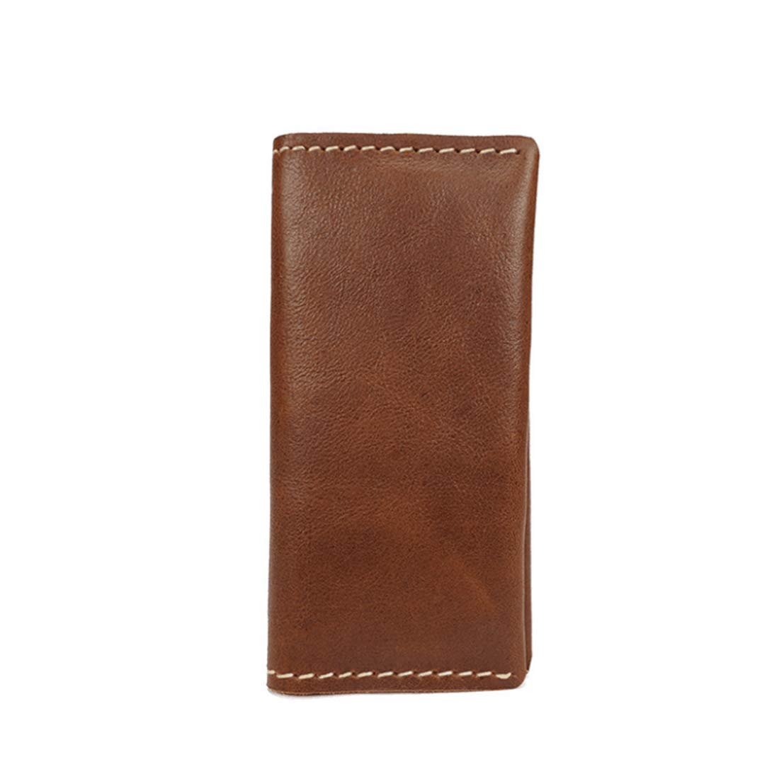 KRPENRIO Mens RFID Blocking Genuine Leather Long Bifold Wallet Color : Brown2