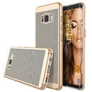 Samsung galaxy s8 plus case/cover summer mesh heat Dissipation ultra thin PC cover