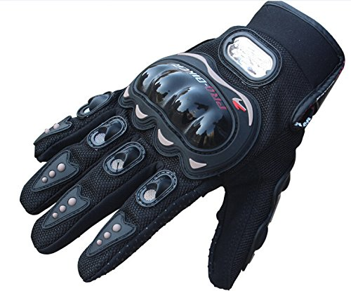 HIFROM(TM) Black Motocross Racing Pro-biker Motorcycle Motorbike Cycling Full Finger Gloves (M(for womens))