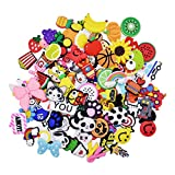 XHAOYEAHX 100pcs Different Shape Shoes Charms Fits for Clog Shoes Decorations Wristband Bracelet Party Gift