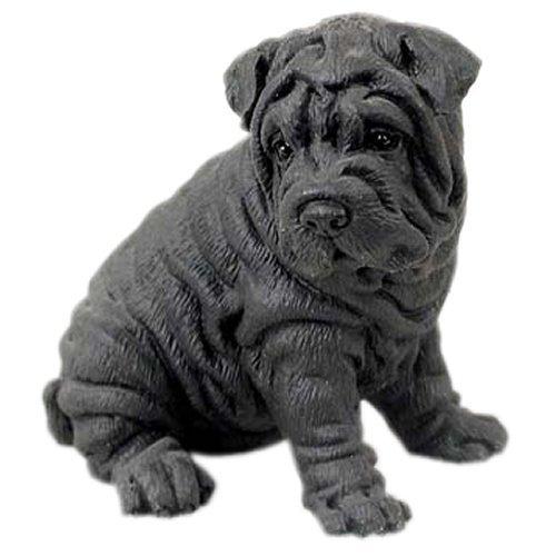 (Black Shar Pei Figurine)