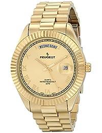 Peugeot Men's 1029G Analog Display Japanese Quartz Gold Watch