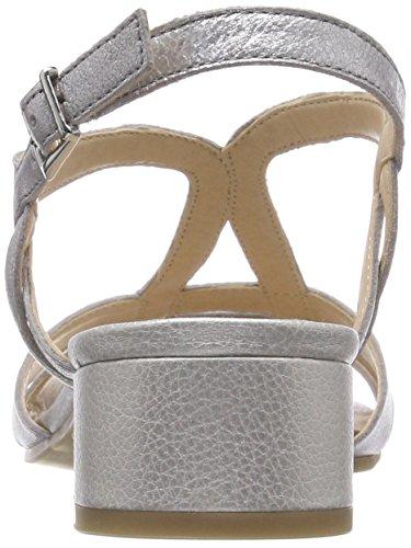 donna 28201 Caprice posteriore argentato argento da con metallo Sandali fibbia 920 wpqA7xq0S