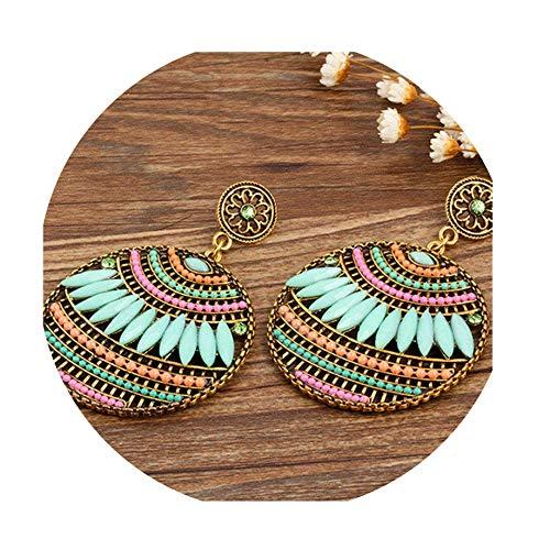 Bohemia crystal European and American trend Drop Earrings for Women fashion ()