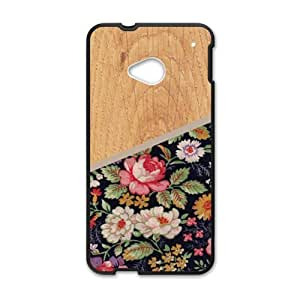 Happy Wood And Flowers Fashion Comstom Plastic case cover For HTC One M7