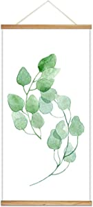 """wall26 Hanging Poster Wooden Framed Beautiful Leaves Theme Home Wall Canvas Prints Ready to Hang - 18""""x36"""""""