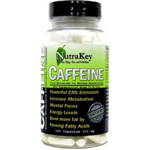 Caféine 200mg, 100 capsules