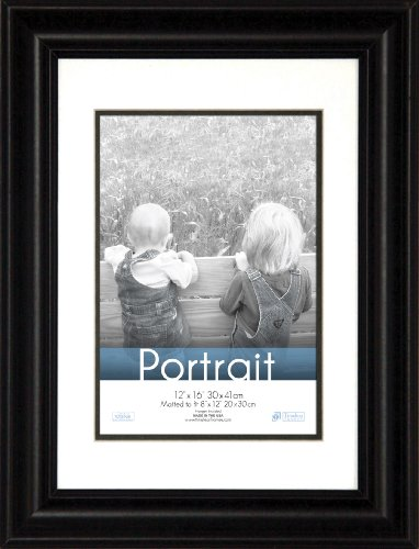(Timeless Frames 12x16 Inch Fits 8x12 Inch Photo Lauren Portrait Wall Frame, Black)