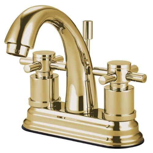 Kingston Brass KS8612DX Concord 4-Inch Lavatory Faucet, Polished Brass