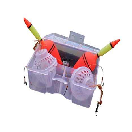Espeedy 1 juego flotador de pesca de carpa Bobber monstruo de mar con ganchos de explosión