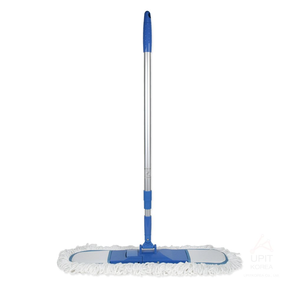 Industrial Class Microfiber Dust Mop with Telescopic Handle 53'', Hardwood Floor Mop 360°Rotation with 24'' Wide, Reusable Cotton Pads for Wet or Dry Floor Cleaning (1 Pack Mop) by UPIT