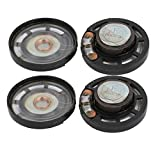 uxcell4Pcs 0.25W 8 Ohm 28.5mm Dia Round External Magnetic Magnet Electronic Speaker Loudspeaker