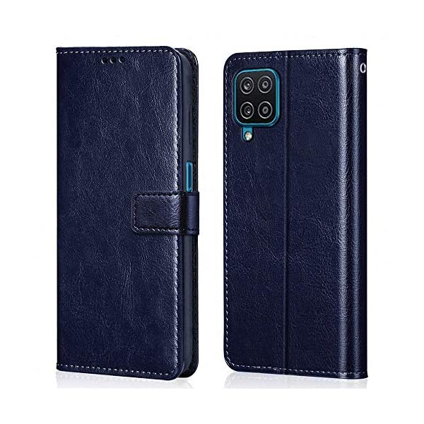 WOW Imagine Shock Proof Flip Case Back Cover for Samsung Galaxy A12 / M12 / F12 (Flexible | Leather Finish | Card… 2021 July Compatible Devices - Exclusively Designed for Samsung Galaxy A12 / M12 Special features - Highly Protective with Card Pockets, Wallet and Magnetic Closure. Ultimate Camera and Screen Protection - Outer layer fixes perfectly around the inner shell to protect from drops, bumps and shocks