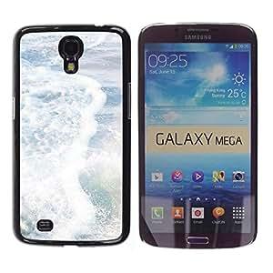 Be Good Phone Accessory // Dura Cáscara cubierta Protectora Caso Carcasa Funda de Protección para Samsung Galaxy Mega 6.3 I9200 SGH-i527 // Sea Pearly White Sun Summer Surf Waves