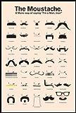 The Moustache ( A Man's Way of Saying I'm a Man, man ) - くちひげ 男らしさのアート-  ポスター