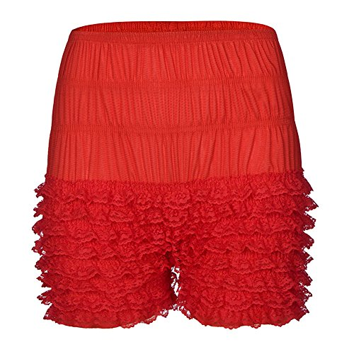 Dorchid Women Lace Leggings Sexy Multi Layer Ruffle Panties Sexy Shorts (Lace Square Dance)