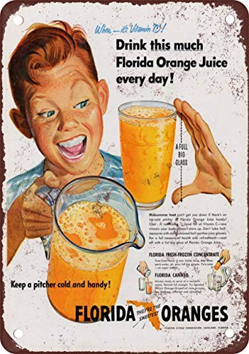 1951-florida-orange-juice-vintage-look-reproduction-metal-tin-sign-8x12-inches