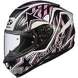 オージーケーカブト(OGK KABUTO)バイクヘルメット フルフェイス AEROBLADE5 VISION(ビジョン) ブラックピンク (サイズ:L) 576288