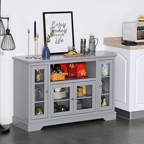 HOMCOM Modern Kitchen Sideboard Buffet Server Cabinet