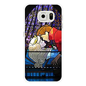 Samsung Galaxy S6 Edge Case, Customized Disney Sleeping Beauty White Hard Shell Samsung Galaxy S6 Edge Case, Sleeping Beauty Galaxy S6 Edge Case(Only Fit for Galaxy S6 Edge)