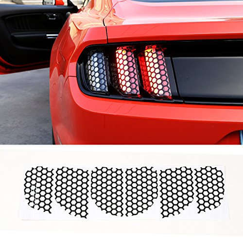 Mustang Honeycomb - Kaizen Tail Light Stickers Rear Bumer Lamp Decoration Cover Car Exterior Refitting Trim Kits for Ford Mustang 2015 2016 2017
