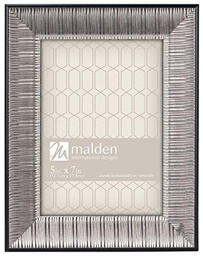Malden International Designs Classic Mouldings Sinclair Ridge Picture Frame, 5x7, Silver (Frame Ridge)