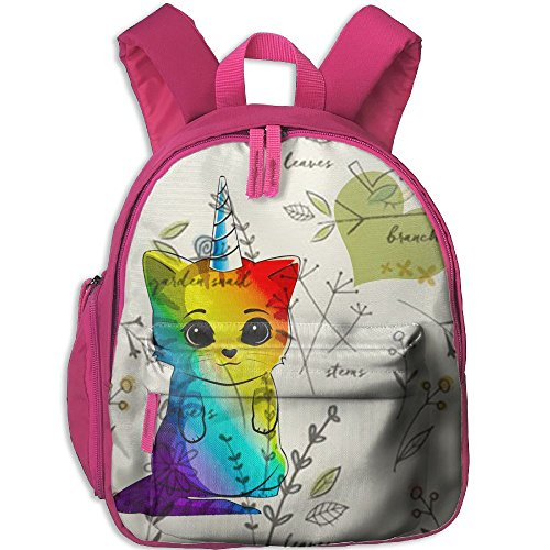 Horizon-t Adfjtys Backpack Leaflet Cat Bag Canvas Backpack School Bag (Canvas Leaflet)